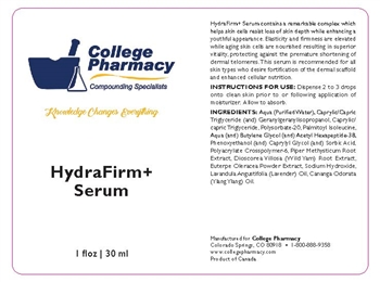 College  Pharmacy Hydrafirm+ Serum