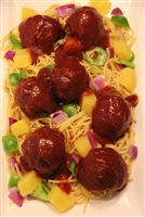 Sweet 'n' Sour Meatballs with Spaghetti