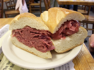 Corned Beef on French Baguette