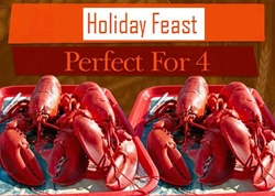 Four 2.5 LB Lobsters Special/ perfect for four people
