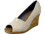 Toms Shoes Inc.: Natural Linen Cork Wedge