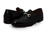 Johnston & Murphy: Stratton Bit Black Calfskin