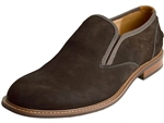 Florsheim: Frisco Plain Toe Slip On Brown Nub.