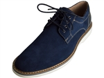 Union Plain Toe Oxford Blue Suede
