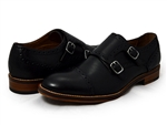 Johnston & Murphy: Conard Double Monk Strap Black Calfskin