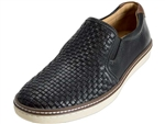 Johnston & Murphy: McGuffey Woven Slip On Black