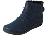 Clarks: Sillian Chell Navy Synth. Nub