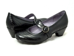 Dansko: Fernanda Black Antiqued Calf Shoes from the Flora collection