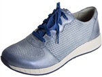 Dansko: Christina Blue Metallic Brush Off