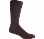 Johnston & Murphy: Pima Cotton Ribbed Dress Sock Black