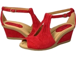 Earth: Caper Bright Red Suede