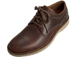Rockport: Cabot Plaintoe Brown Leather