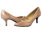 J.Renee: Halina Too Patent/Mesh, Nude