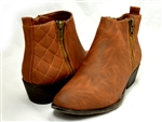 Madden Girl: Holywood Cognac Quilted Bootie