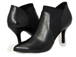 Van Eli: Kamelia Black Leather Bootie