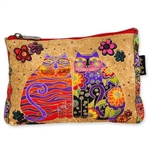 Flowering Feline Cosmetic Bag