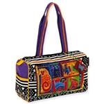Dog Tails Patchwork Med. Satchel