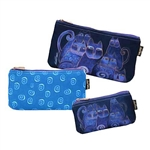 Indigo Cats 3 Cosmetic Bag Set