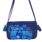 Indigo Cats Mini Crossbody