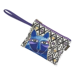 Whiskered Cats Blue Wristlet