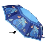 Indigo Cats Compact Umbrella