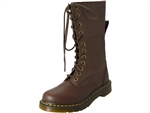 Dr. Martens: Hazil Tall Slouch Boot Dark Brown