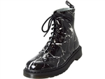 Dr. Martens: Pascal Patent Marble Boot Black