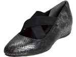 Rockport: Etenia Gore Mary Jane Black Multi Snake