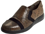 Rockport: Demsa Slip On Taupe Shiny Python