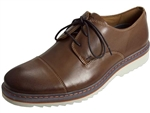 Rockport: Jaxson Cap Toe Brown Leather
