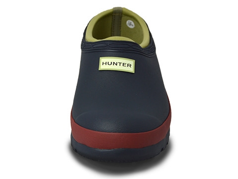 Hunter Boots Garden Clog Navy Red Chestnut