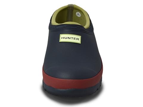 Hunter Boots Garden Clog Navy Red Chestnut