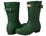 Hunter Boots: Short Back Adjustable Hunter Green