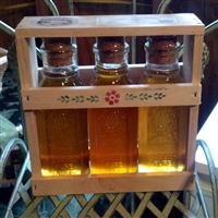Wooden crate of Honey