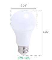Maxlite A19 Bulb, High CRI, JA8 Certified, 10 Watt, Open Rated, Replaces 60 Watt - View Product