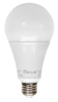 Maxlite 17 Watt LED A21 Bulb, High Output, Dimmable, 3000K, Replaces 125 Watt Incandescent, 17A21D30 - View Product
