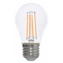 Halco Decorative A15 Filament Bulb, Clear Glass, 5 Watt, E26 Base, 2700K, Dimmable-View Product