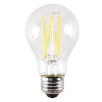 Halco A19 Filament Bulb, Clear Glass, 5 Watt, E26 Base, 2700K, Dimmable-View Product