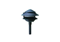 WestGate 12 Volt Solid Brass LED Pagoda Lights with Integrated LED SMD Bulb, Antique Bronze Finish- View Product