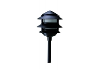 WestGate 12 Volt Solid Brass LED Pagoda Lights with Integrated LED SMD Bulb, Black Finish- View Product