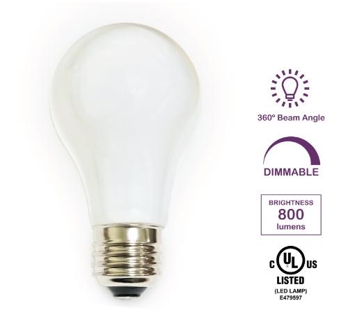 Aleddra Led A19 Bulb 8 Watts E26 Base Case Of 100