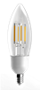 LEDone B11 Clear Lens Filament Bulb, 5 Watt, Optional Base, 120 Volt Dimmable, Replaces 60 Watt- View Product