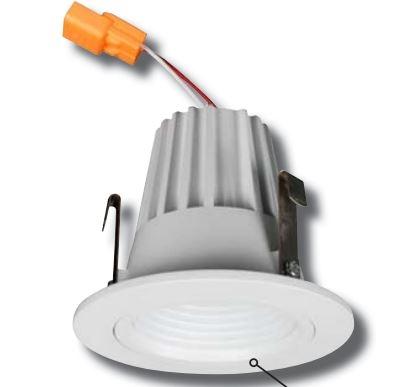 Led Recessed Retrofit Light 9 Watts 2 Inch White Baffle Trim 3000k