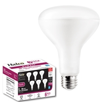 Halco Contractor Series BR Bulbs, 8 Watt, E26 Base, Dimmable, Frosted Lens ***6 pack only***-View Product