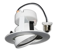 LED Recessed Retrofit Light, 10 Watts, 4 Inch, Gimbal Ring, BRK-LED4-GR-4K-ECO -View Product