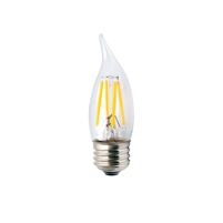 Halco Decorative CA10 Candelabra Bulb, 2.5 Watt, E26 Base, Clear Lens, 2700K, Dimmable-View Product