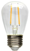 MaxLite Clear LED S14 Filament Bulb, 2W (Replaces 11W Inc), 2700K, F2S14ND27 - View Product