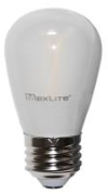 MaxLite Clear LED S14 Frosted Bulb, 2W (Replaces 11W Inc), 2700K, FF2S14ND27 - View Product
