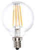 LEDone G16.5 Clear Lens Filament Bulb, 4 Watt, Optional Base, 120 Volt Dimmable, Replaces 60 Watt- View Product