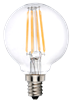 LEDone G16.5 Clear Lens Filament Bulb, 4 Watt, Optional Base, 120 Volt Dimmable, Replaces 60 Watt, G16.5-60WE-4WD27K-E12-FIL, G16.5-60WE-4WD27K-E26-FIL - View Product